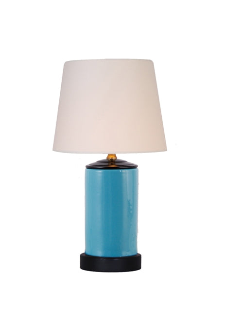 Porcelain Turquoise Mini Table Lamp