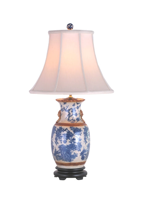 Porcelain St. James Floral Vase Lamp