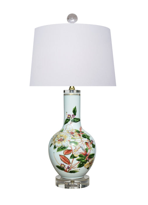 Porcelain Floral Vase Table Lamp