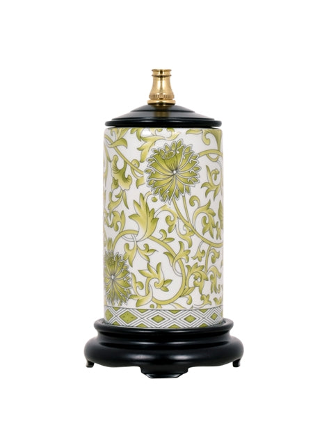 Mini Porcelain Lemon Green Vase Lamp