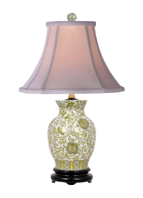Floral Green Vase Table Lamp