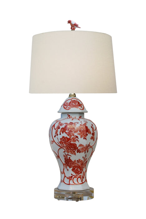 Porcelain Mandarin Orange Temple Jar Table Lamp