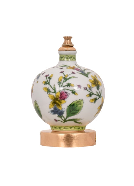 Mini Porcelain Yellow Floral Table Lamp