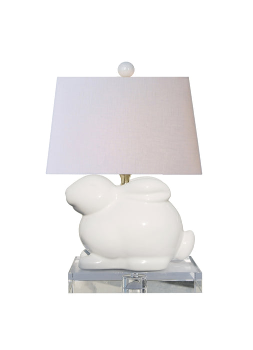 Porcelain White Crystal Bunny Table Lamp