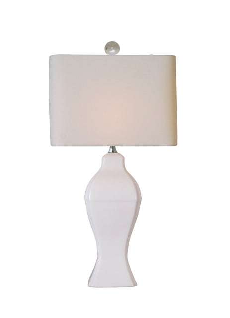 White Porcelain Rectangle Table Lamp