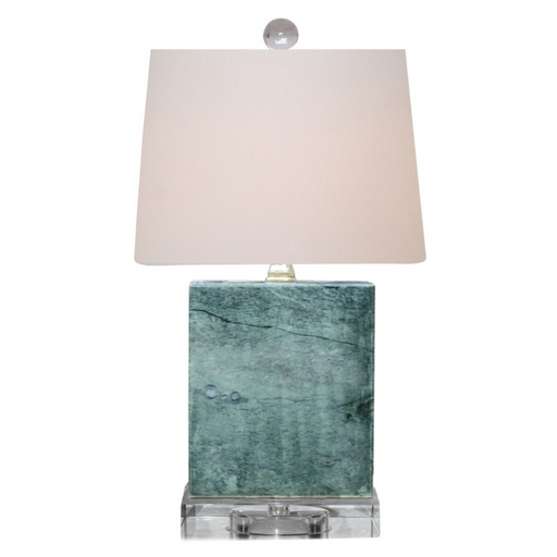 Real Jade Teal Table Lamp