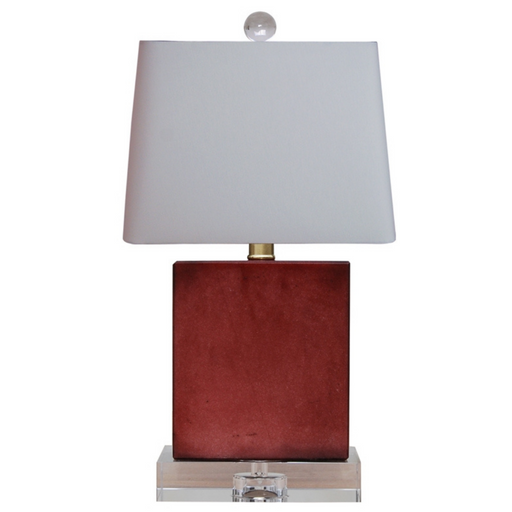 Mini Jade Red Rectangle Table Lamp