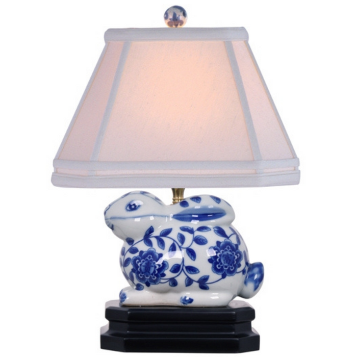 Mini Porcelain Bunny Table Lamp