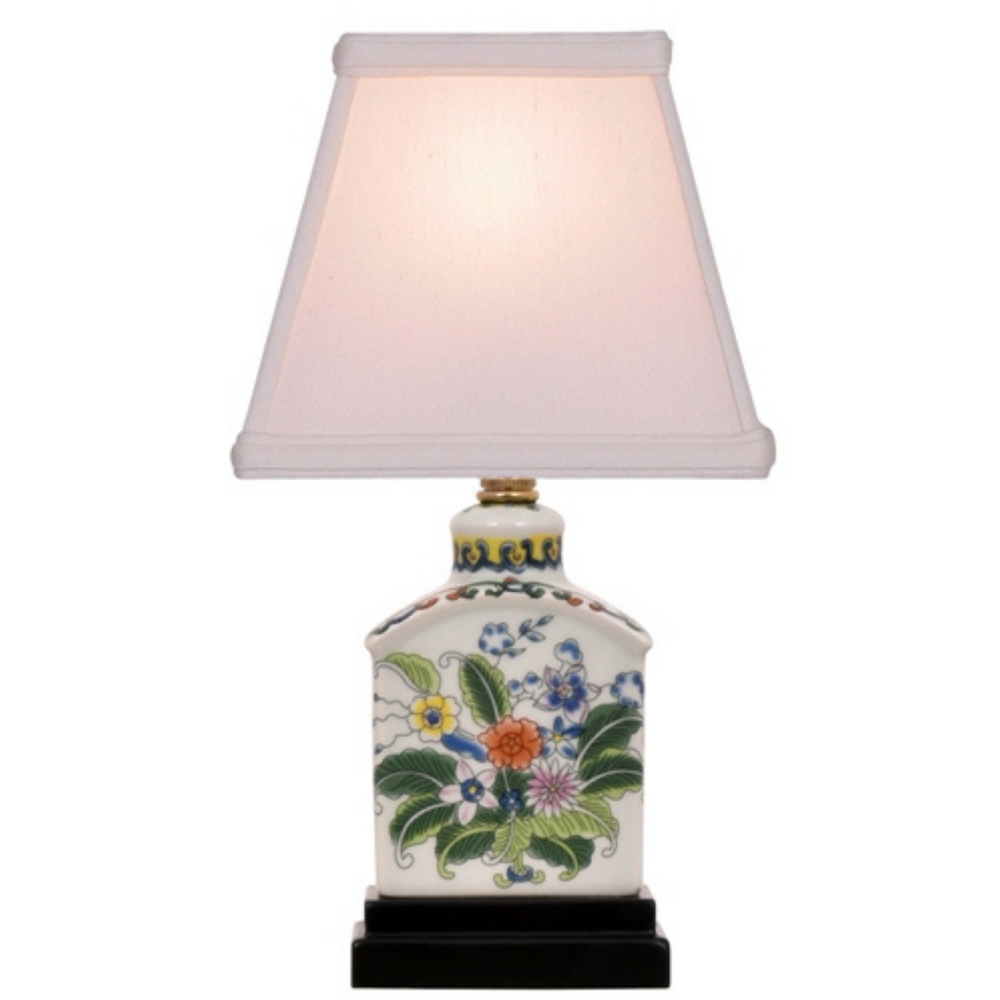Mini Porcelain Rectangle Table Lamp