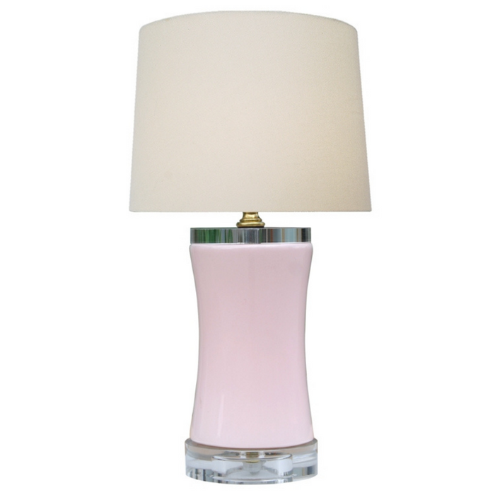 Mini Porcelain Soft Pink Bell Table Lamp