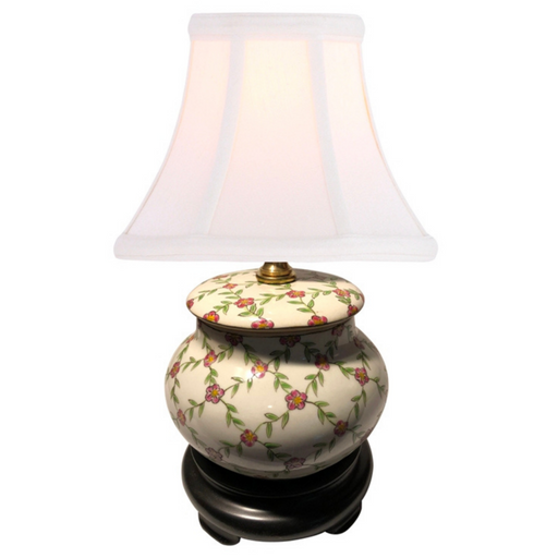 Mini Hand Painted Porcelain Table Lamp