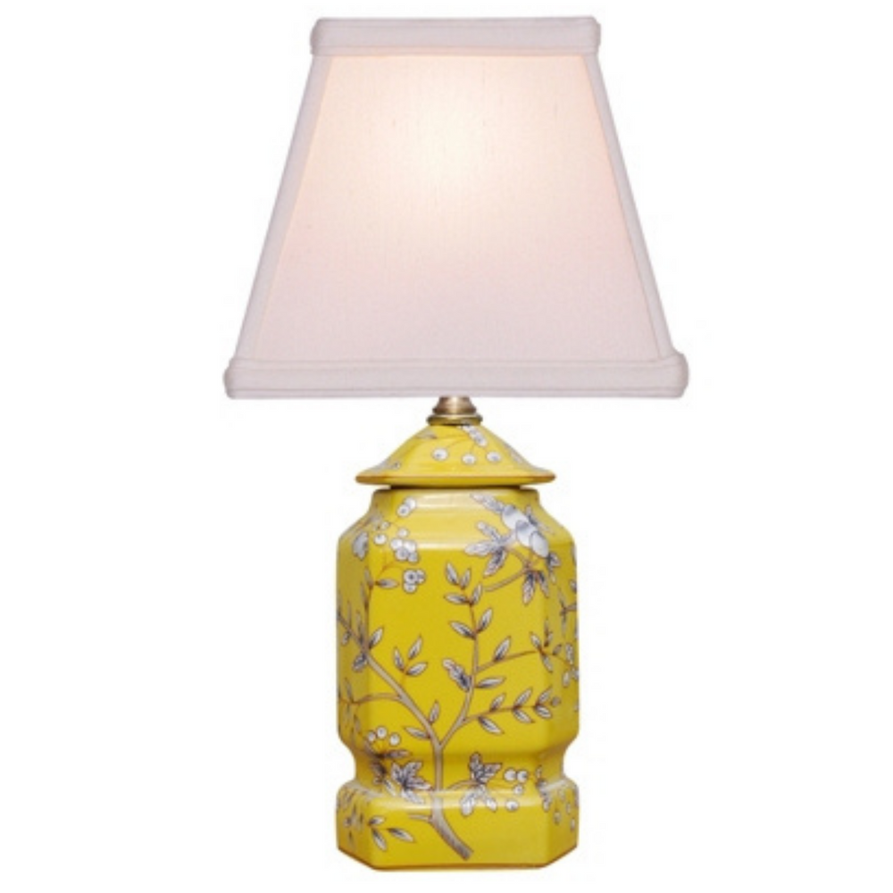 Mini Porcelain Yellow Jar Lamp