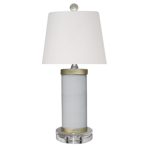 Mini Solid White Jade Table Lamp