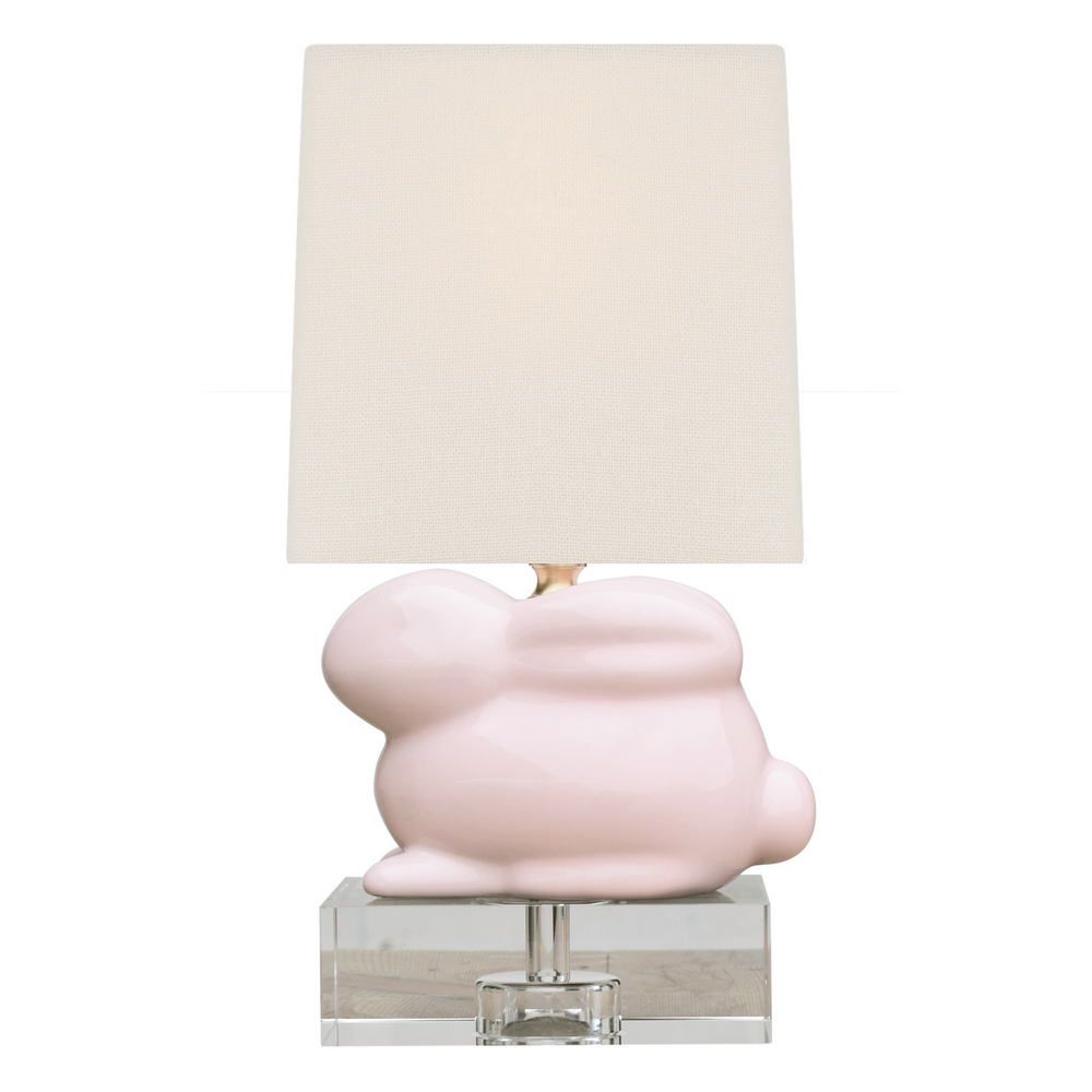 Mini Porcelain Pale Pink Bunny Table Lamp