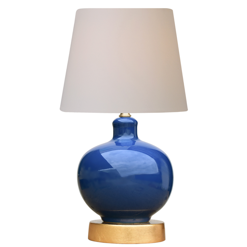 Mini Porcelain Navy Blue Vase Table Lamp