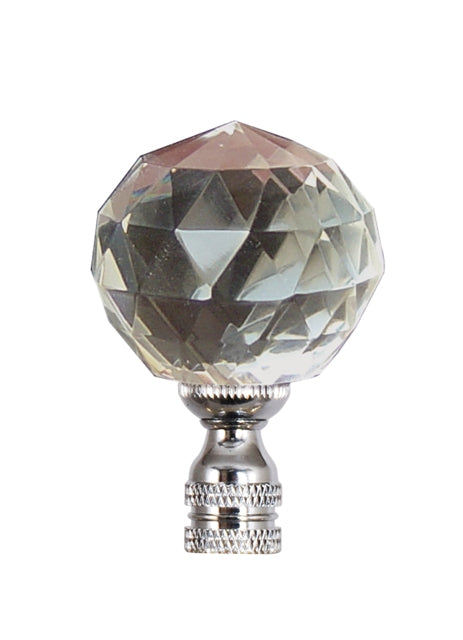 Crystal Diamond Finial