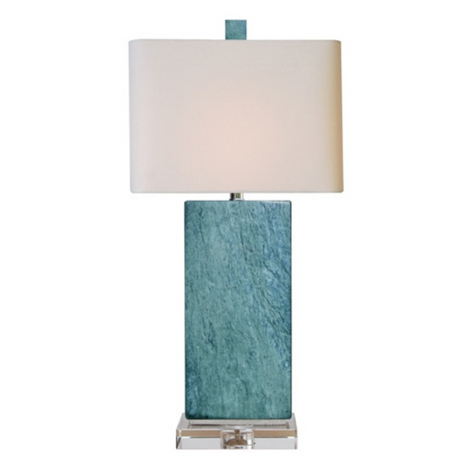Real Blue Jade Rectangle Table Lamp