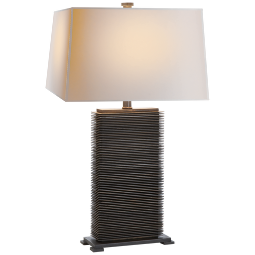 Zinc Rectangle Table Lamp