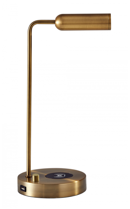 Kaye Antique Brass LED Desk Lamp