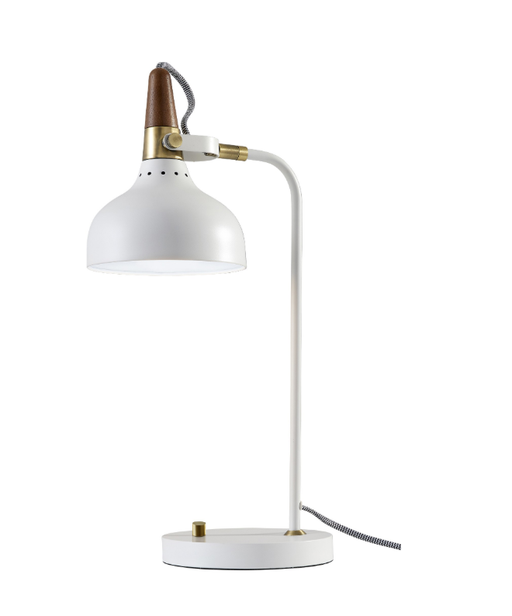 White Brunswick Desk Lamp