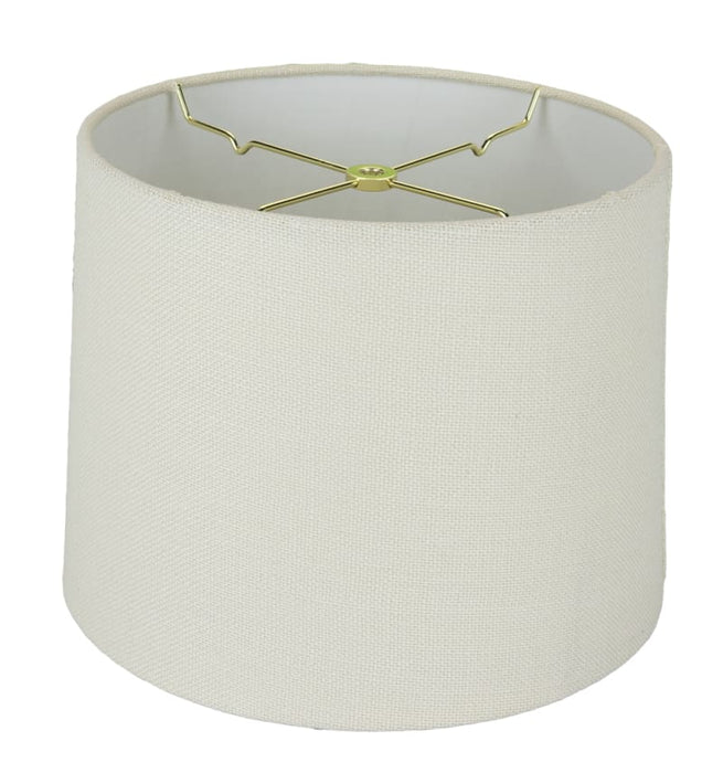 Burlap Regular Hard Back Drum Lamp Shades
