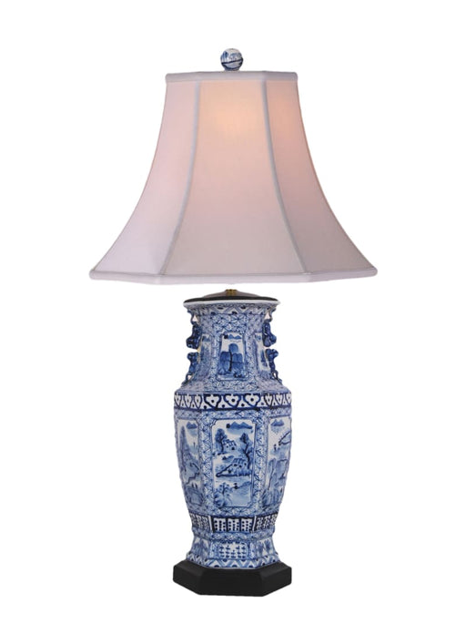 Canton Hexagonal Vase Lamp Lighting