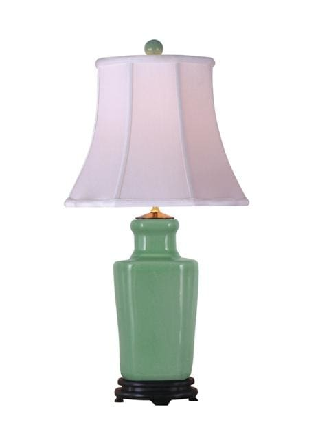 Celadon Lotus Vase Lamp Lighting