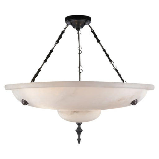 Charles Small Chandelier In Alabaster And Bronze Lighting