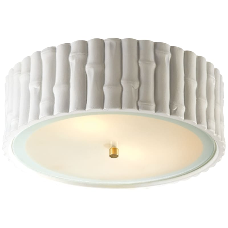 Frank Large Flush Mount With Frosted Glass Lighting