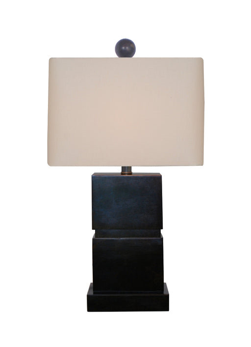 Medium Square Brown Jade Table Lamp