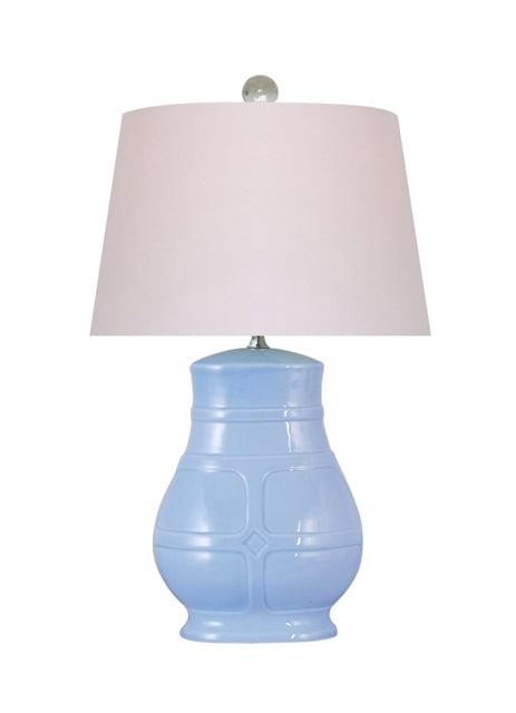 Ice Blue Porcelain Table Lamp