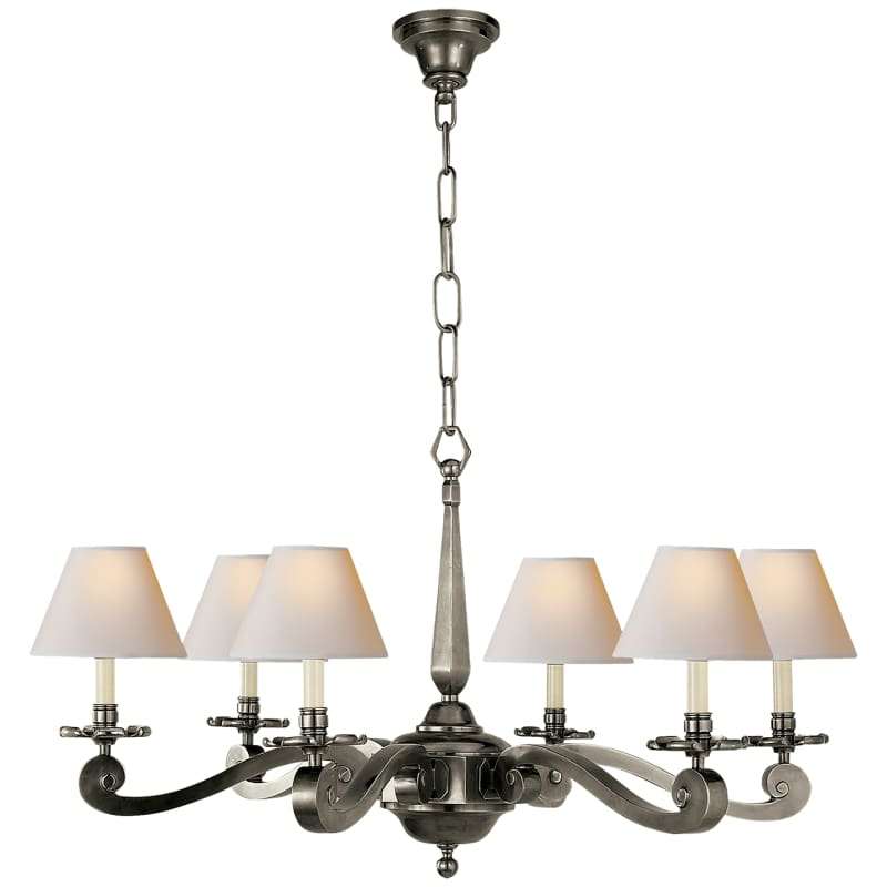 Myrna Chandelier With Natural Paper Shades Lighting