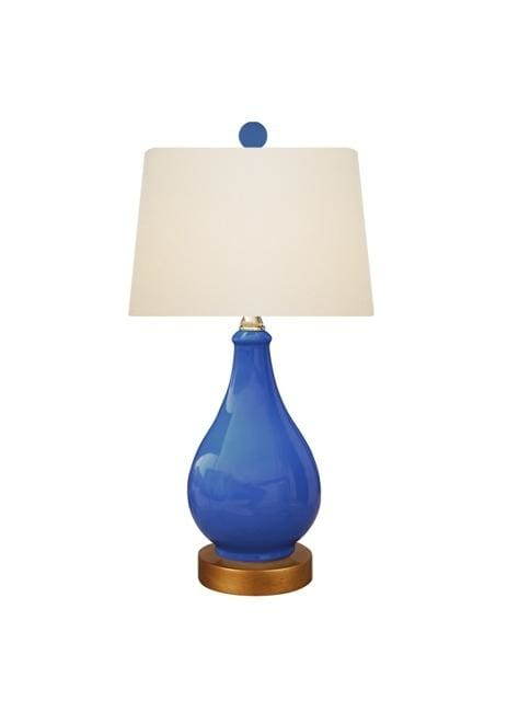 Navy Blue Vase Lamp Lighting