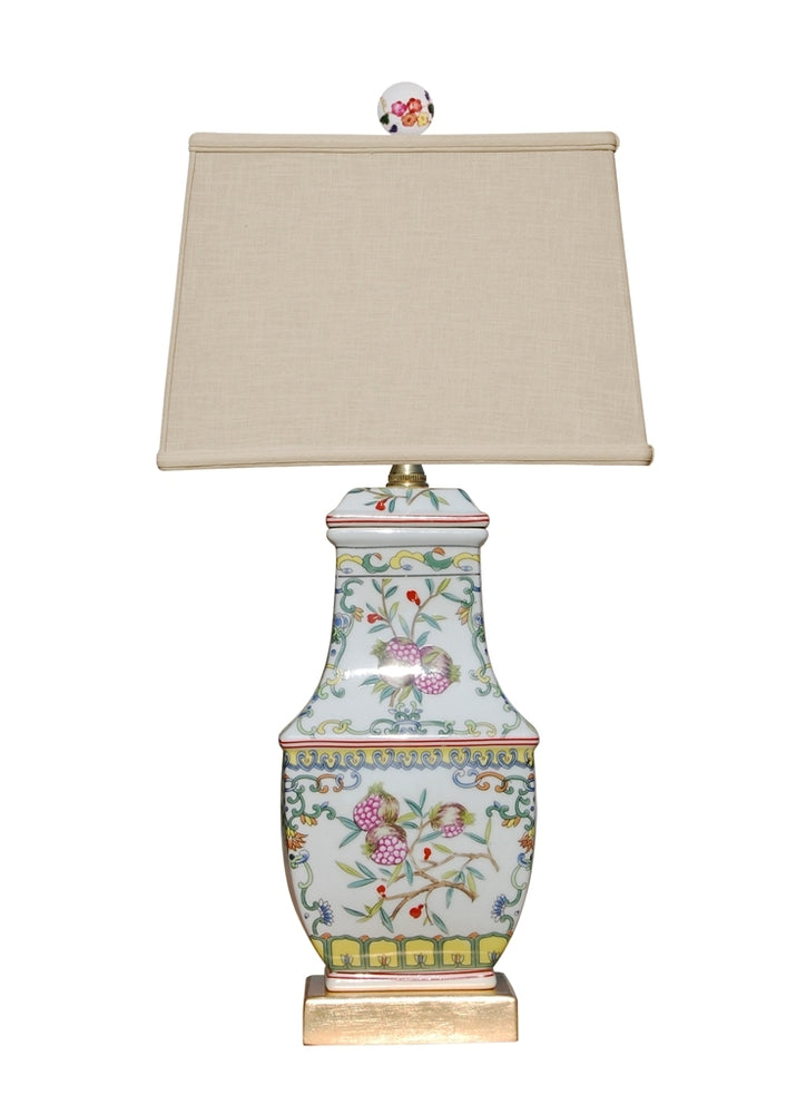 Porcelain Pomegranate Vase Table Lamp