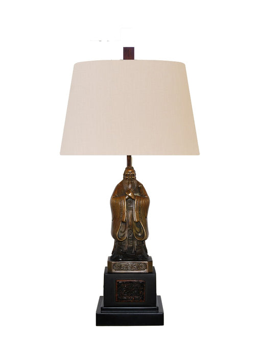 Solid Bronze Table Lamp of Professor Kongfuzhi
