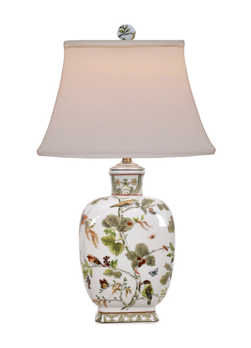 Porcelain Birds & Leaves Table Lamp