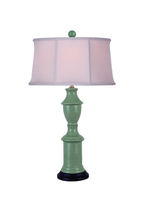 Celadon porcelain Spindletop Table Lamp
