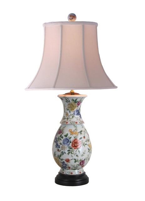 Porcelain Roses Table Lamp