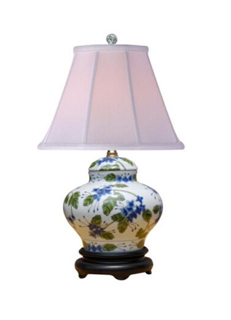 Porcelain Lilac Vase Table Lamp