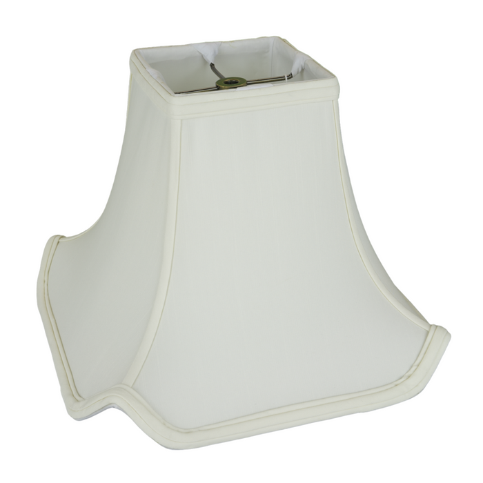 Rectangle Pagoda Lampshade in Shantung Silk