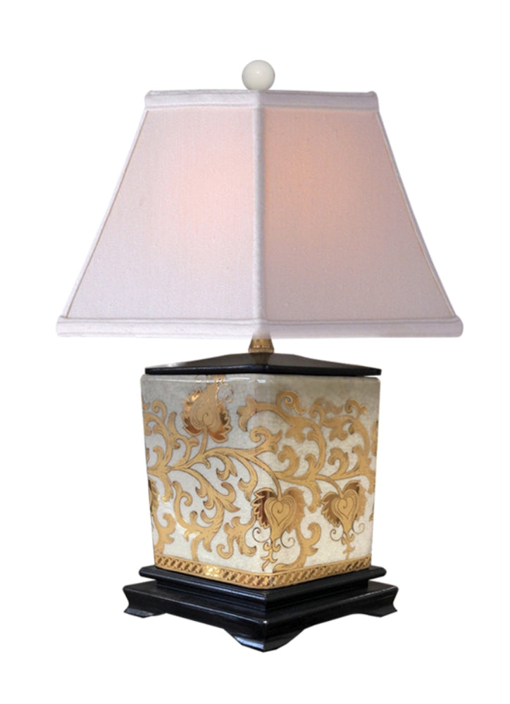 Porcelain Gold Tapestries Diamond Table Lamp