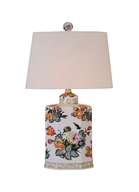 Porcelain Rectangle Urn Table Lamp