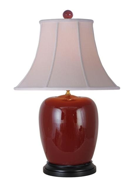 Oxblood Porcelain Table Lamp Lighting