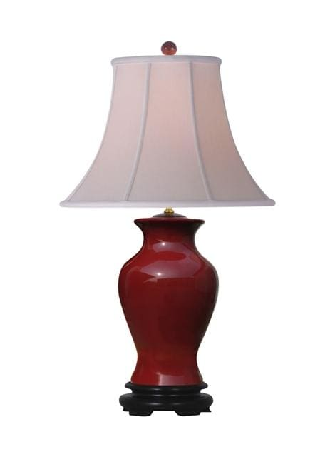 Oxblood Porcelain Vase Table Lamp Lighting