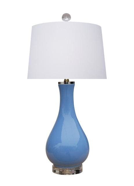 Porcelain Summer Blue Vase Lamp Lighting