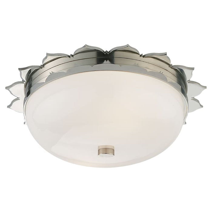 Rachel Small Flush Mount With White Glass Lighting