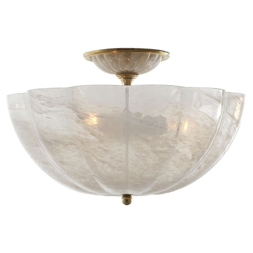 Rosehill Semi-Flush With White Strie Glass Lighting