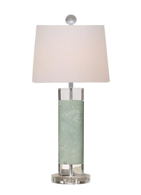 Solid Green Jade Table Lamp Lighting