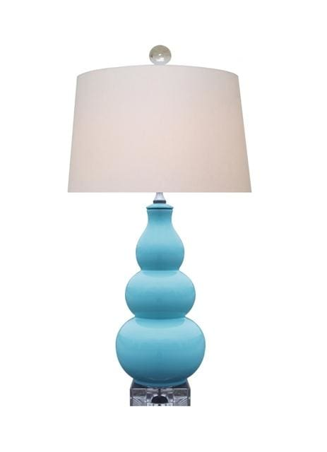 Turquoise Porcelain Gourd Table Lamp Lighting