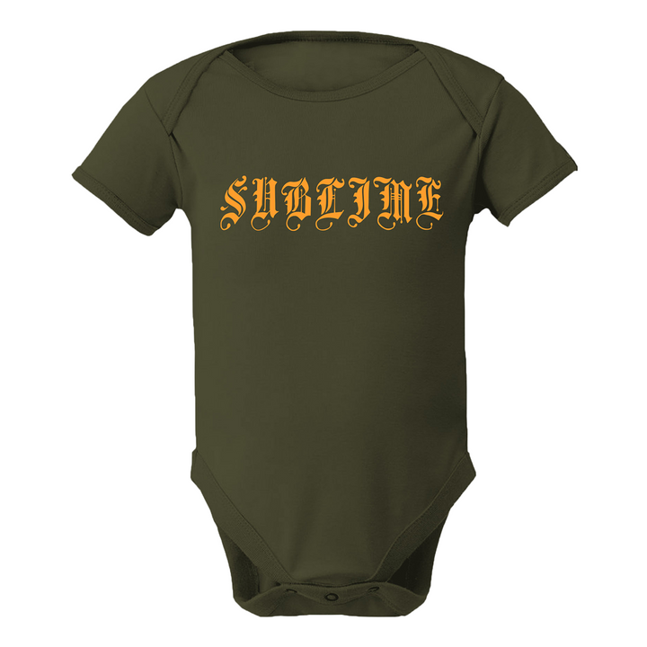 Sublime Logo Olive Green Onesie